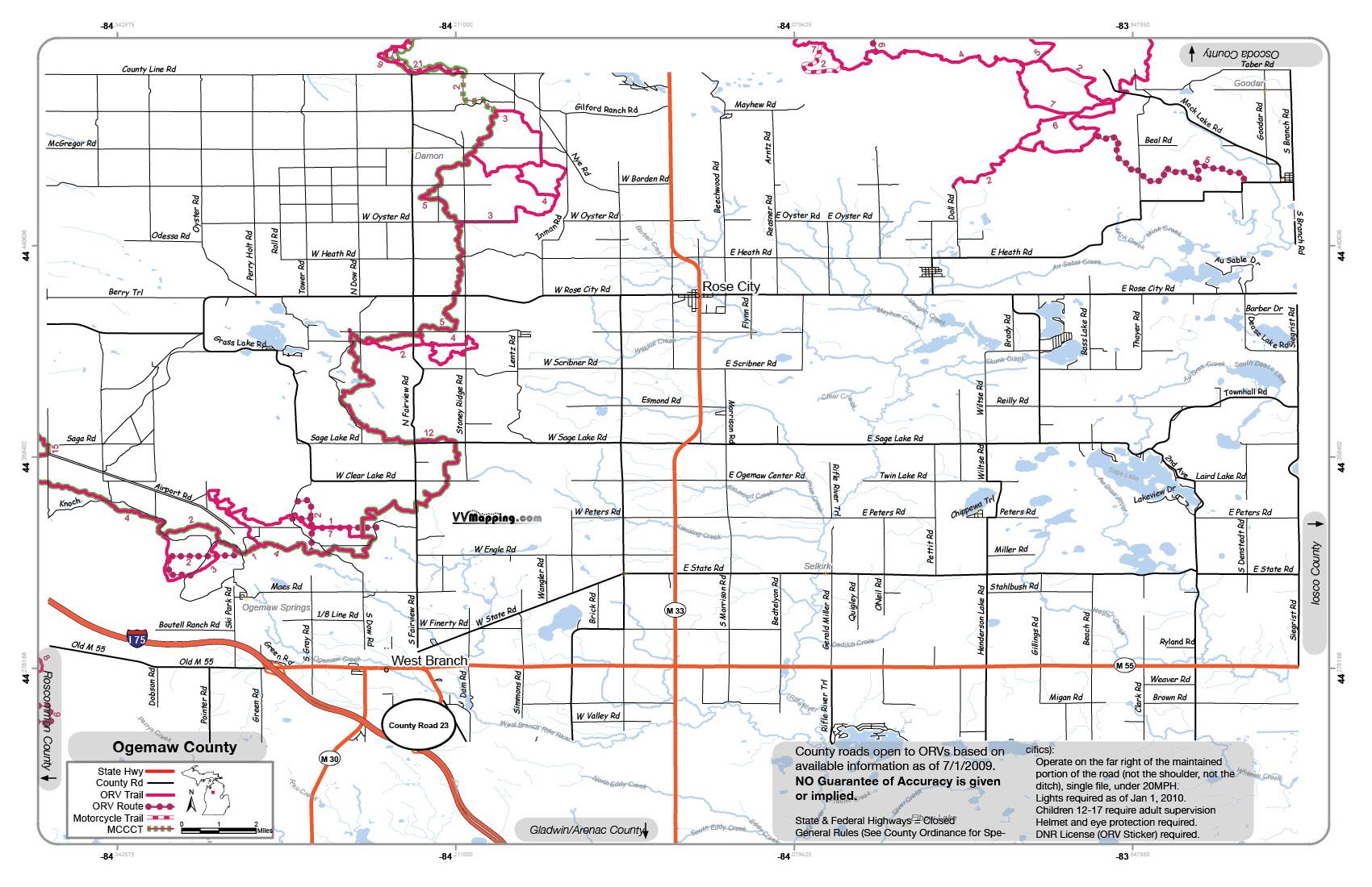 ... bull gap ogemaw hills rose city st helen mccct map vvmap ogemaw pdf